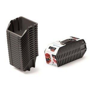 PlasticFuture Set úložných boxů 16ks Ziron 234x77x92 černý
