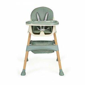 Jídelní židlička 2v1 POPPY EcoToys azurová
