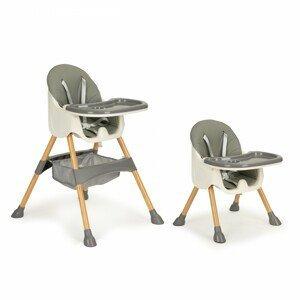 Jídelní židlička 2v1 POPPY EcoToys šedá