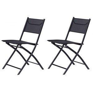 MODERNHOME Sada zahradních židlí GOODHOME černá