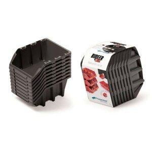 PlasticFuture Set úložných boxů 8ks Ziron 160x98x160 černý