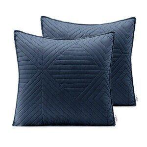 Povlaky na polštáře AmeliaHome Softa tmavě modré/medové