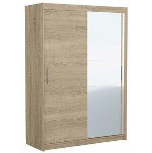 Shoptop Šatní skříň FARO 150 cm dub sonoma