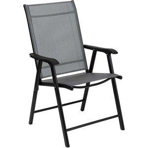 MODERNHOME Sada zahradních židlí černá