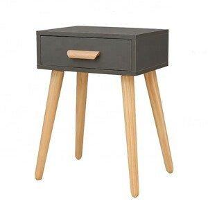 MODERNHOME Noční stolek Gry šedý