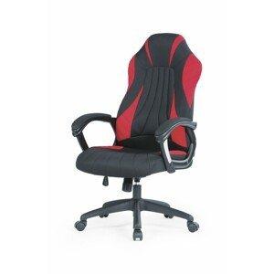 Halmar Kancelářská židle Hefe černá/červená