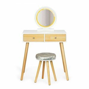 MODERNHOME Kosmetický stolek s osvětlením Lufo bílý