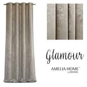 Závěs AmeliaHome Glamour Nyx béžový