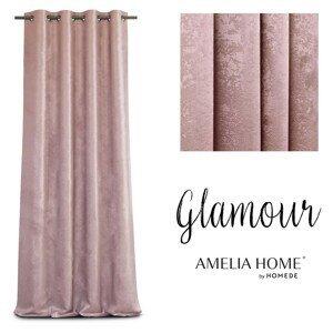 Závěs AmeliaHome Glamour Nyx růžový