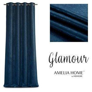 Závěs AmeliaHome Glamour Nyx tmavě modrý