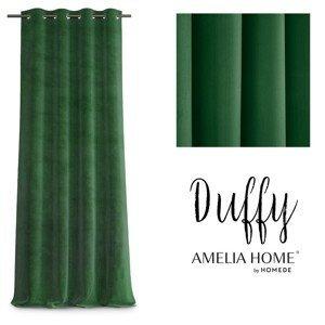 Závěs AmeliaHome Duffy lahvově zelený
