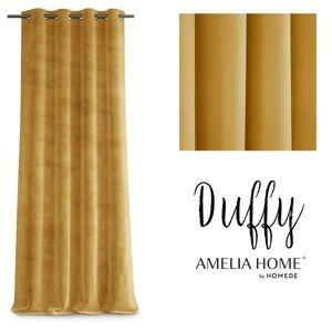 Závěs AmeliaHome Duffy hořčicový