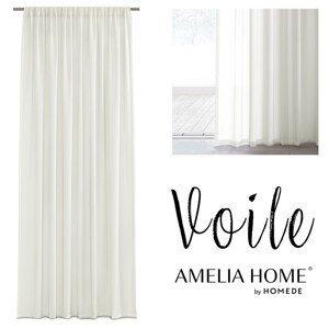 Záclona AmeliaHome Voile Liva IV krémová
