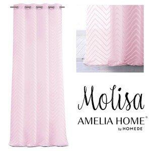 Záclona AmeliaHome Molisa II růžová