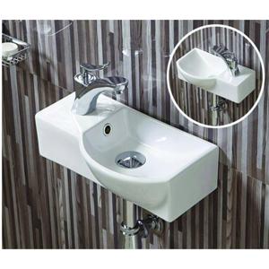 Keramické umyvadlo klasické MEXEN HUGO 40x22,5 cm bílé - pravá