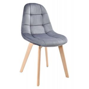 TZB Čalouněná židle Austin - šedý samet