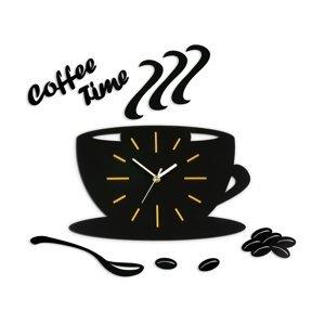 Mazur Nástěnné hodiny Satin cup černo-žluté