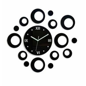 Mazur 3D nalepovací hodiny Rings černé