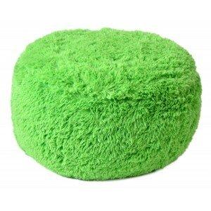 TZB Plyšový puf nafukovací jarní zeleň