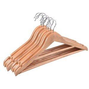 TZB Dřevěná ramínka RONDO 10 kusů - světle hnědá