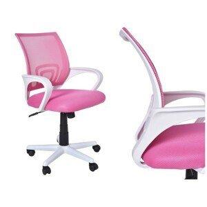 TZB Kancelářská židle Bianco bílo-růžová