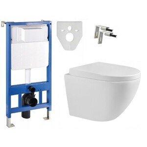 Sada podomítkový modul MEXEN FENIX  SLIM + závěsná WC mísa LENA + prkénko