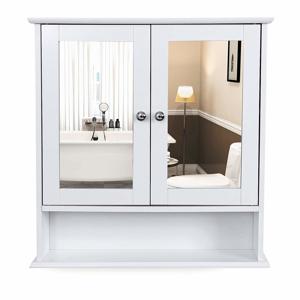 Rongomic Koupelnová skříňka se zrcadlem FREYA bílá
