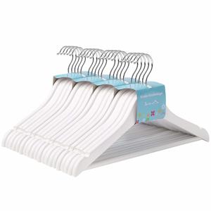 Rongomic Dětské dřevěné ramínko na oděvy 20 kusů - bílé