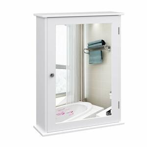 Rongomic Koupelnová skříňka se zrcadlem CLAIRE bílá