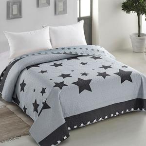 Přehoz přes postel AmeliaHome Stars černo-modrý