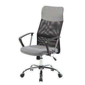 MODERNHOME Kancelářská židle Ellena GoodHome světle šedá