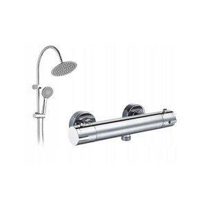 Sprchový set s termostatickou baterií MEXEN 77100-00 + dešťová sprcha PG7 20OX