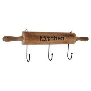 DekorStyle Kuchyňský věšák Kitchen hnědý