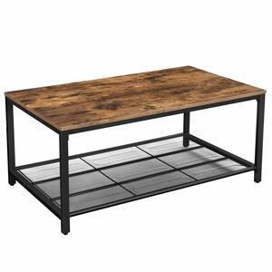 Rongomic Konferenční stolek VASAGLE hnědočerný