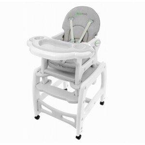 Dětská jídelní židlička EcoToys 3v1 DESTI šedá