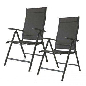 MODERNHOME Zahradní židle Bory černá - 2 kusy