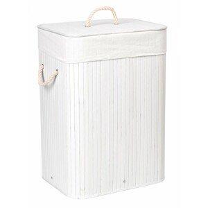 TZB Bambusový koš na prádlo Ylva 80 L bílý