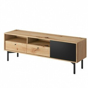 Hector TV stolek Evoke RTV 151 cm dub artisan/černá perleť