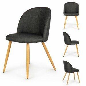 MODERNHOME Sada dvou židlí JADAL černá