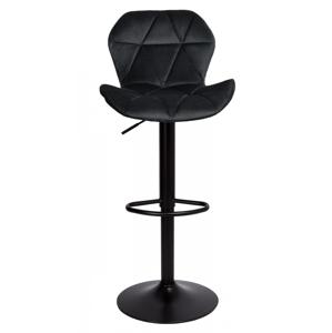 TZB Barová židle Hoker GORDON VELVET černá