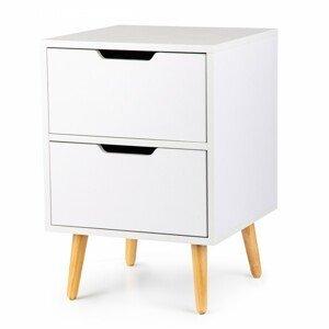 MODERNHOME Noční stolek Corey bílý