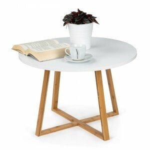 MODERNHOME Konferenční stolek Alva 60 cm bílý