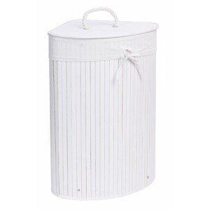 TZB Bambusový koš na prádlo Eira 60 L bílý