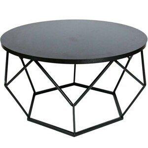DekorStyle Konferenční stolek DIAMOND 70cm černý