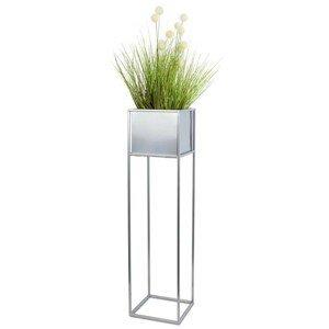 DekorStyle Květinový stojan GLORIA 90 cm chrom