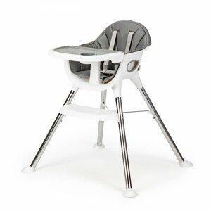 Dětská jídelní židlička Inge EcoToys šedá