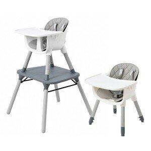 ECOTOYS Jídelní židlička Amanda 3v1 šedá