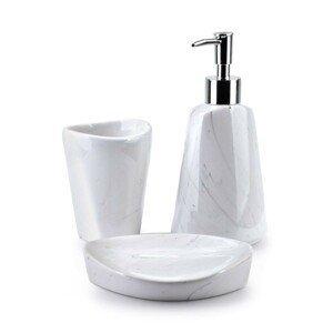 DekorStyle Sada koupelnových doplňků Odette Marble bílá
