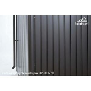 Sada okapových svodů pro zahradní domky HighLine stříbrná metalíza