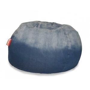 Sedací vak Jeans Round blue
